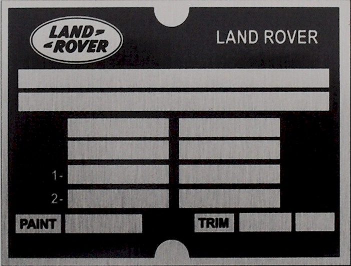 Classic land rover vin decoder